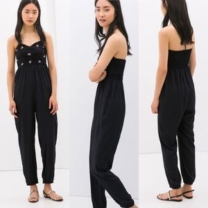 LAST CHANCE! Zara Jeweled Halter Jumpsuit